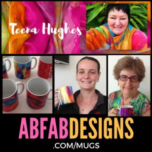 Mugs designed by Teena Hughes