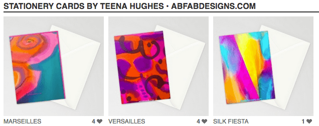 My designs are now available on gorgeous greeting cards!