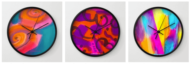 My designs are now available on clocks!