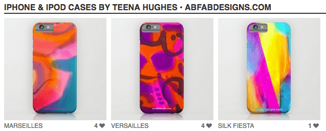 My designs are now available as gorgeous iphone cases!