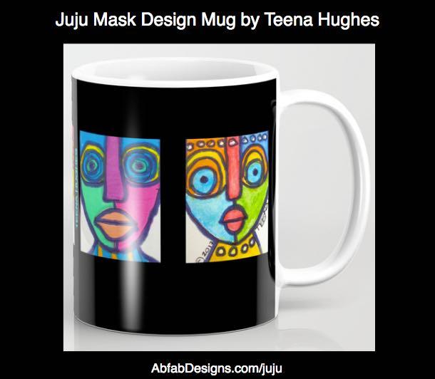 Juju Masks Designs on Coffee Mugs