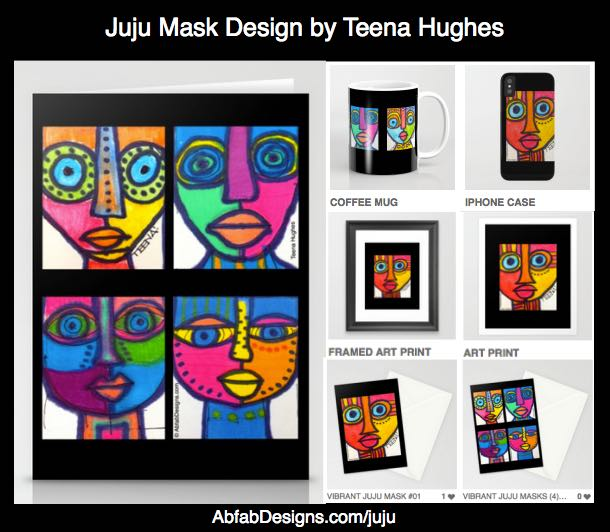 Juju Mask Design Products by Teena Hughes