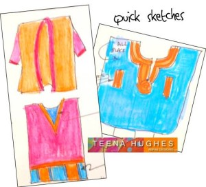 Marvellous March quick sketches by Teena