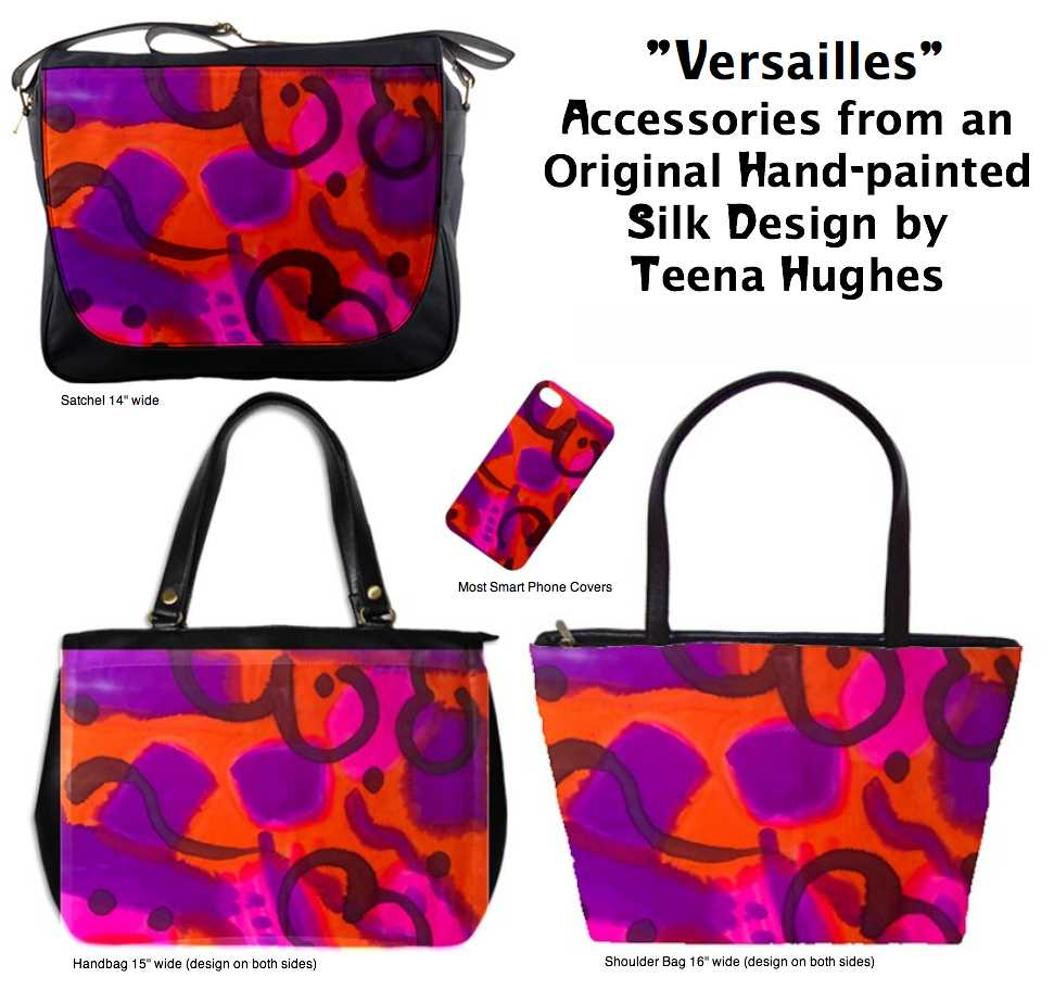 Versailles hand-painted silk design by Teena Hughes
